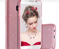Силиконовая накладка Gliter для Samsung J7 Prime (Pink), фото 1