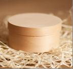 Деревянная круглая коробка из шпона, размер: 90*40 мм КР-009040
