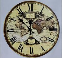 """Часы настенные """"Карта мира"""" (34 см) из МДФ"""