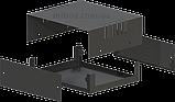 Корпус металевий MB-4 (Ш150 Г130 В50) чорний, RAL9005(Black textured), фото 2