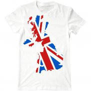 Мужская футболка с принтом Флаг Великобритании