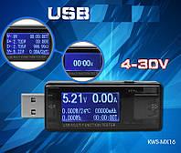 KWS-MX16 USB тестер тока,напряжения,мощности и заряда (несколько режимов индикации)
