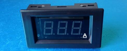 Амперметр V85DC до 10А (зелені цифри)