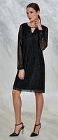 Стильное черное клубное платье Guitar
