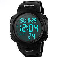 Мужские Часы SKMEI 1068 (Black) наручные, удобные, спортивные часы