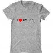 Мужская футболка с принтом Я люблю Доктора Хауса