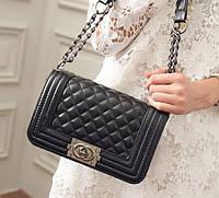 Женская сумка через плечо Шанель Boy Брендовая