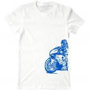 Мужская футболка с принтом Мото гонки