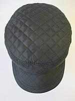 Мужские кепки черного цвета с козырьком., фото 1