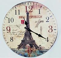 """Часы настенные """"Эйфелева башня"""" (34 см) из МДФ"""