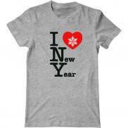 Мужская футболка с принтом Я люблю Новый Год