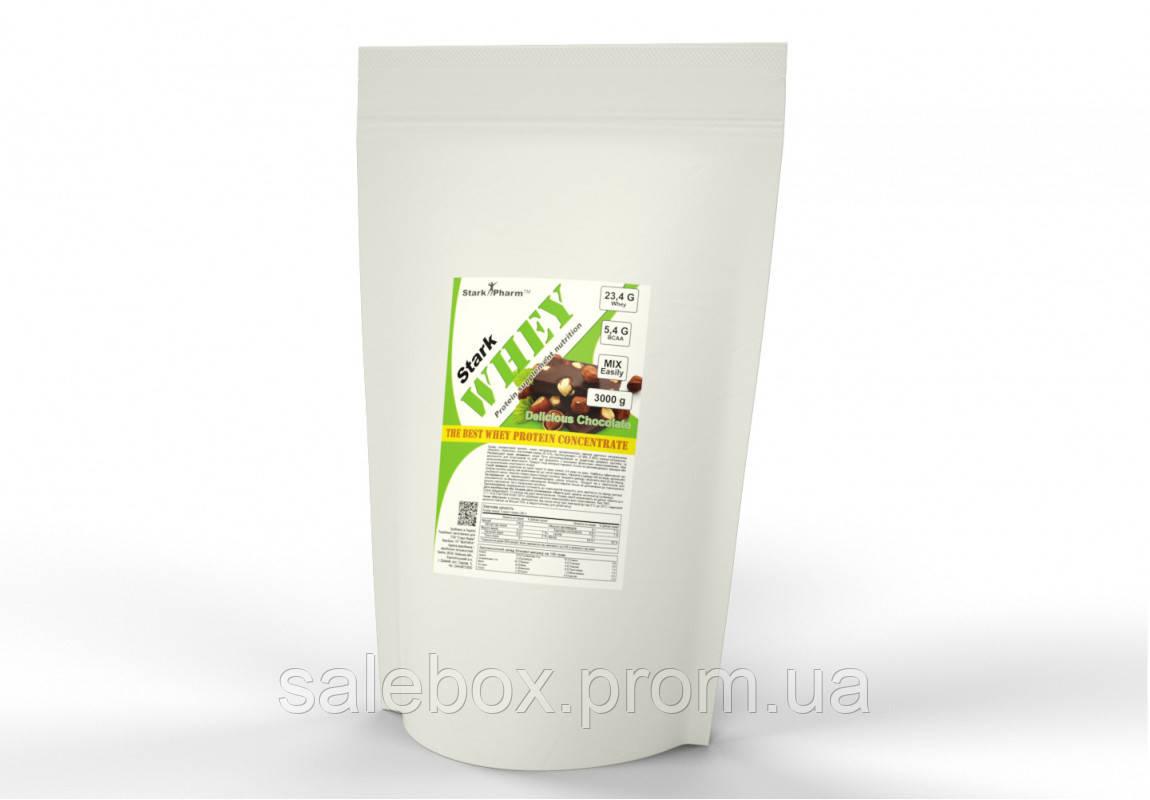 Протеин Сывороточный Whey Protein Stark Pharm 1 кг/ Шоколад