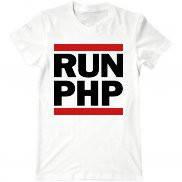 Мужская футболка с принтом run php