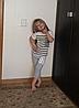 Классные летние полосатые серые костюмы для мальчика, фото 3