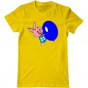 Мужская футболка с принтом Пятачок
