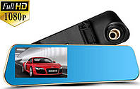 Видеорегистратор зеркало DVR T1 BlackBox Full HD 1080P на 2 камеры!