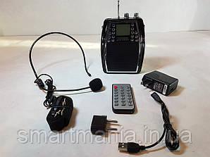 Радиогид с головным микрофоном WMA-222 плеер MP3/USB/радио FM/эхо/ПУ