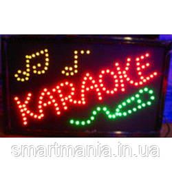 """Світлодіодна вивіска """"Karaoke"""" 55*33см"""