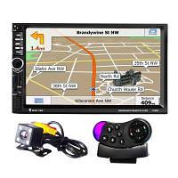 "Автомагнитола 2Din Pioneer 7020G 7"" Экран, GPS, Bluetooth, Читает ВИДЕО+ Пульт+Шахта!+ КАМЕРА!"