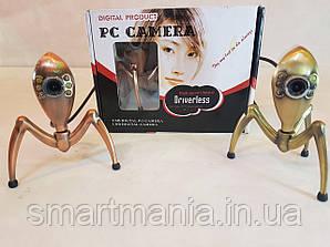 Веб Камера с микрофоном с подсветкой в виде паука