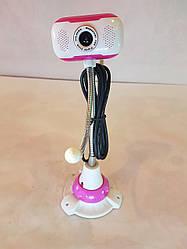 Веб камера на гибкой ножке с присоской + микрофон