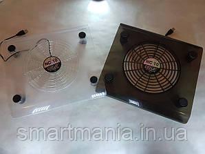 Прозрачная охлаждающая подставка под ноутбук Fan Laptop Cooler
