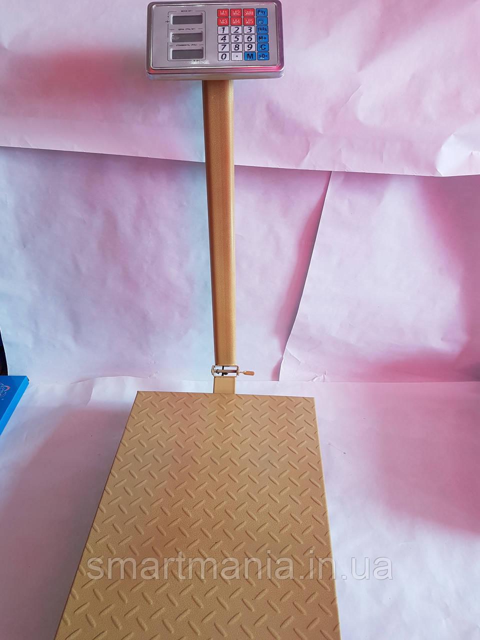 Торговые электронные весы с усиленной платформой до 600 кг со стойкой (платф. 45х60 см)