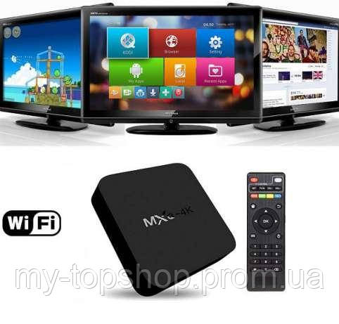 Приставка смарт ТВ Android Smart TV MXQ PRO 4K, смарт приставка к телевизору TV BOX Internet TV