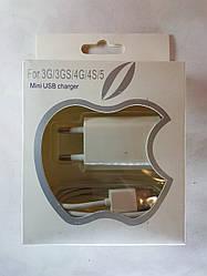 Зарядка для iPhone 3G,3GS,4G,4S,5 iPad 2,3, iPod mini usb charger