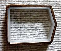 Кольцо квадратное 20 мм, медь античная