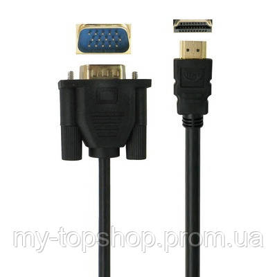 Кабель, провід HDMi VGA 3м, шнур аудіо і відео HDMi VGA