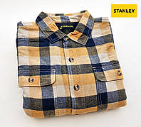 Мужская фланелевая рубашка Stanley®(США)(XL) на флисе/100% хлопок /Оригинал из США