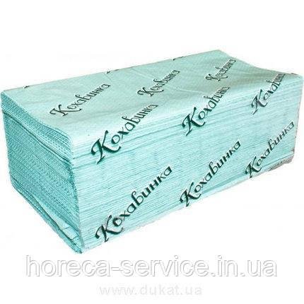 Кохавинка полотенце V сложение эстетик зелёное 1-слойное,макулатура 170 шт