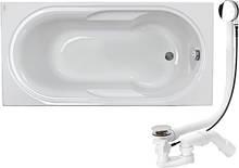 LAGUNA ванна прямоугольная 150*75 см, глубина: 42см, емкость: 115л, с ножками+сифон Viega Simplex для ванны ав