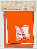 """Набор для творчества """"Сделай открытку"""", 4шт/уп., 12*17см, """"Цветы оранжево-красные"""""""