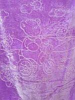 Детское меховое одеяло 100*140.Фиолетовый.