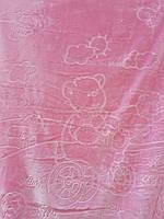 Детское меховое одеяло 100*140.Розовый.