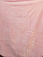 Детское меховое одеяло 100*140. Нежно розовый.