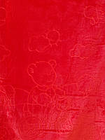 Детское меховое одеяло 100*140.Красный.