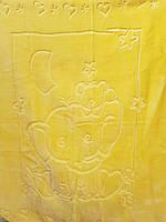Детское меховое одеяло 100*140. Желтый.