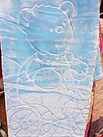 Детское меховое одеяло 100*140. Голубой.