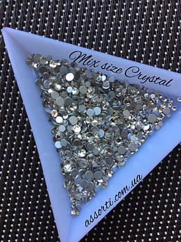 Стразы Кристалл Mix size  Crystal, 1000 шт