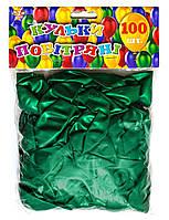 Шар воздушный 13 см стандарт зел. 100шт/уп