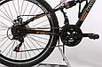 """Подростковый велосипед CROSSRIDE EXPLORER AMT 24"""",15""""  Черный / Оранжевый, фото 3"""