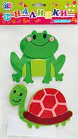 Наклейки для творчества ТМ 1 Вересня Черепаха и лягушка войлок, в уп.2шт. 951231