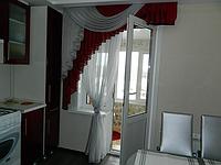 Занавеска на кухню с балконом