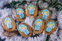 Пряник имбирный новогодний Маша снегурочка