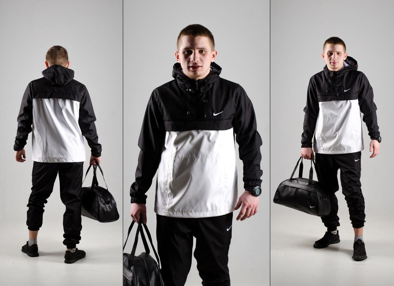 Мужской анорак + спортивные штаны черного цвета