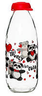 "Бутылка Herevin ""Milk Panda"" для молока 1 л"