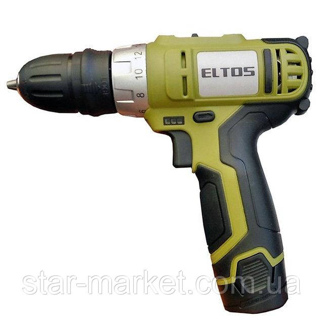 Шуруповерт аккумуляторный Eltos 12 Li-Ion DFR
